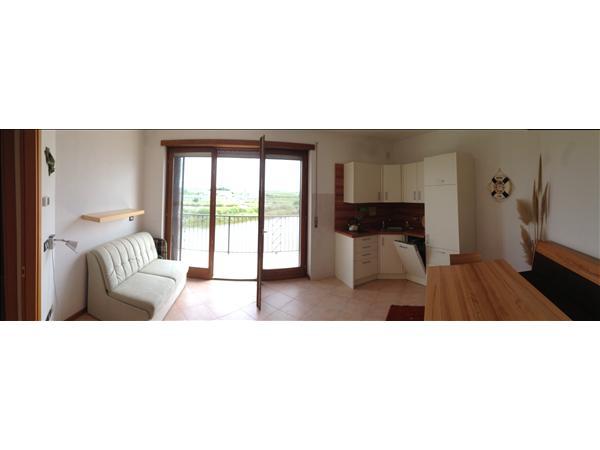 Marano Lagunare, Garconniere mit Lagunenblick, ca. 25 m2 WFL, Balkon