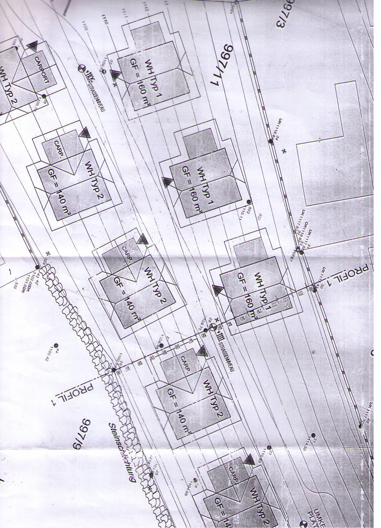 Plass, Kaernten, Gemeinde Ebene Reichenau, grosses Baugrundstueck mit Plan fuer 8 Haeuser