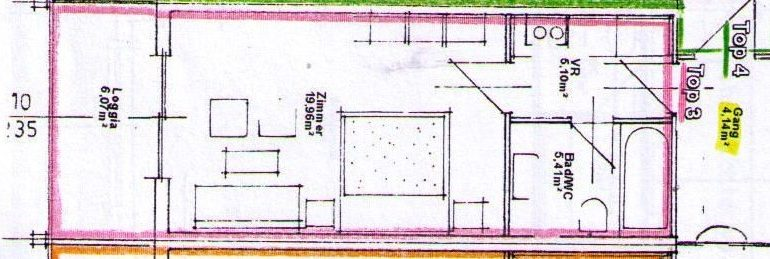 Monlocale 38 m²