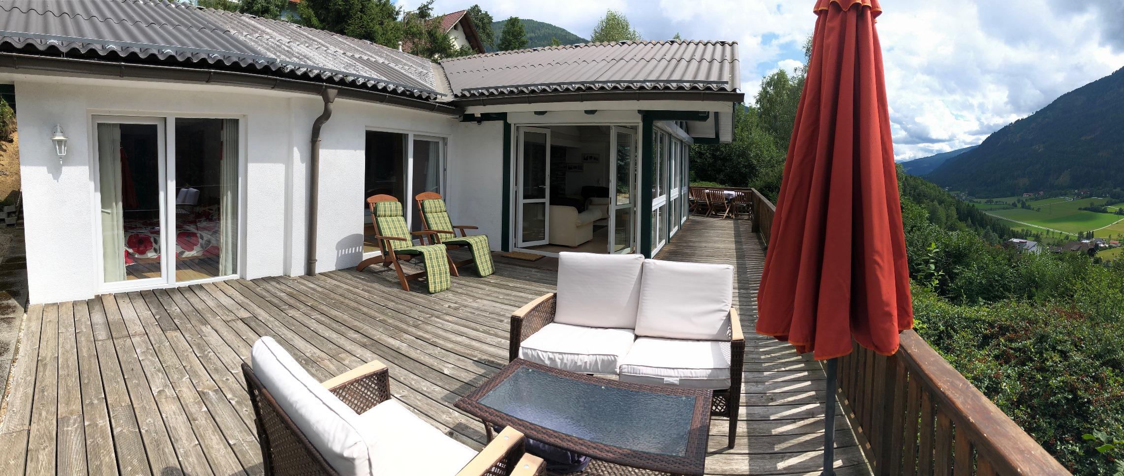 Radenthein, Kaernten, Untertweng Haus (CHILL) in totaler Sonnenlage und mit herrlichem Blick